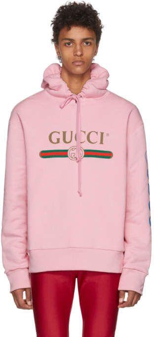 e49bd9f874fc Gucci Pink Dragon Hoodie   sweatshirt in 2019   Gucci, Hoodies ...