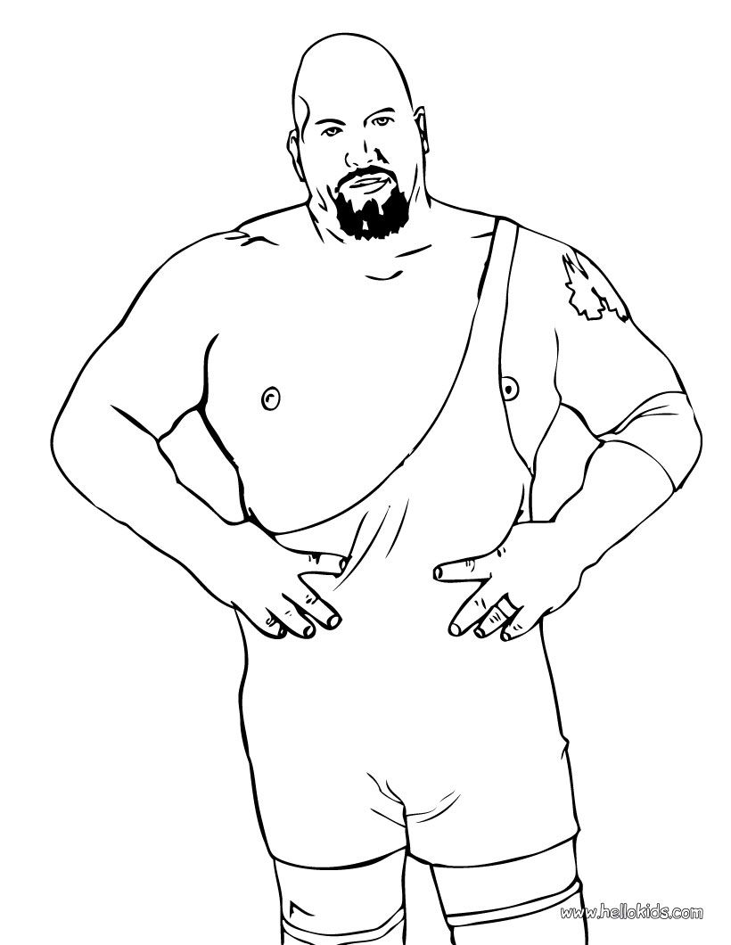 Big Show Color And Print The Bog Show Coloring Page Wrestling
