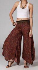 Pantalon femme évasé ethnic Diamian sur www.akoustik-online.com