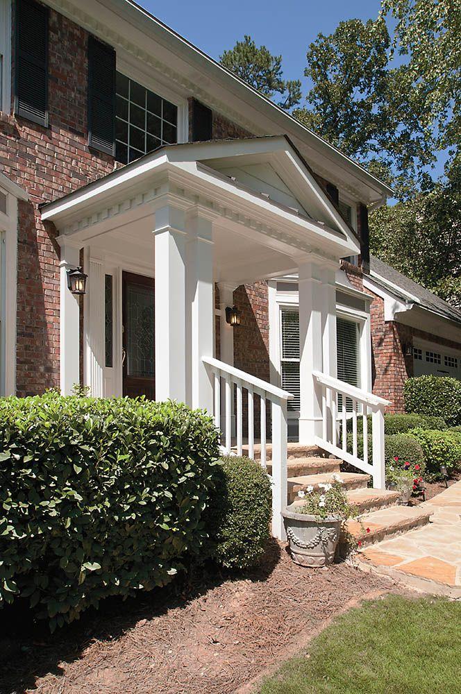 Surprising front door overhang with columns gallery plan for Hb g permacast columns price
