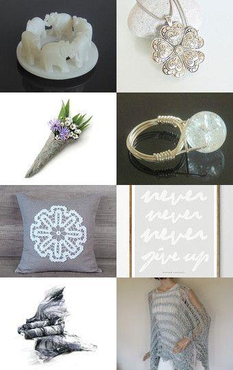 Grey and White by CrochetKnitt on Etsy--Pinned+with+TreasuryPin.com