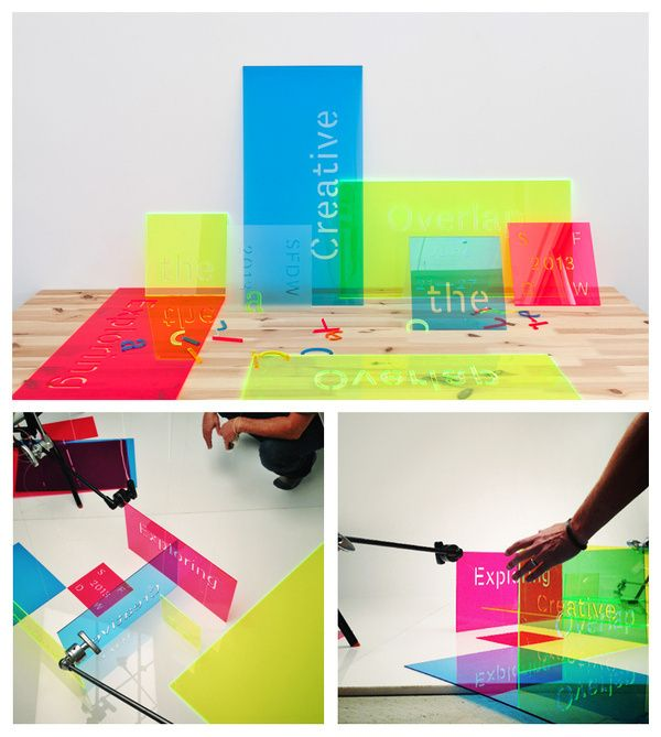 Overlapping Sheets Of Colourful Laser Cut Plexiglass I
