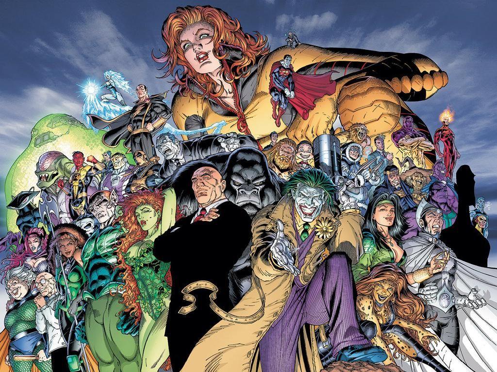 Injustice League By Ian Churchill Comic Villains Dc Comics Art Villain