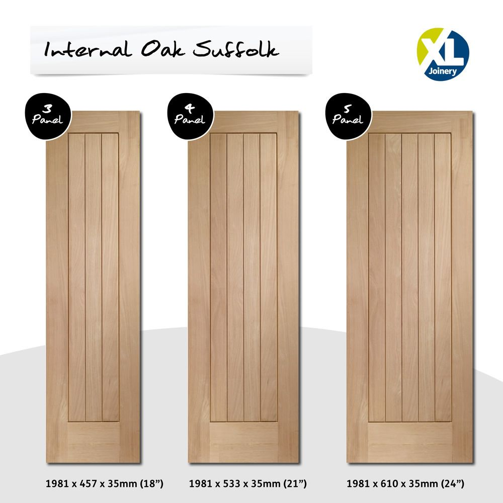 Suffolk Internal Oak Door Smaller Style Door Image  sc 1 st  Pinterest & Suffolk Internal Oak Door Smaller Style Door Image | door oak ... pezcame.com