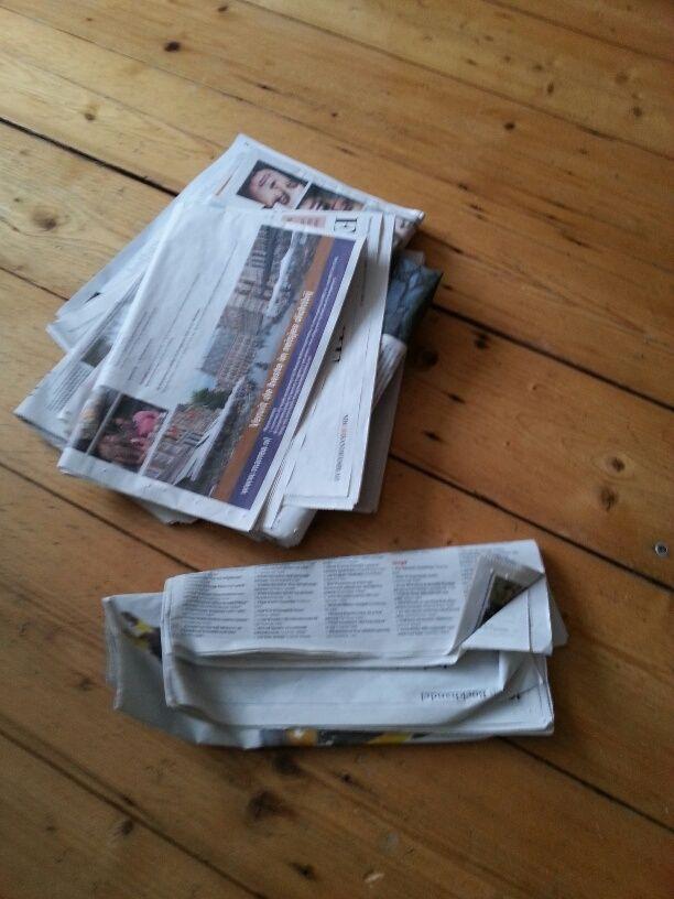 Nieuwe regel om kranten wekelijks los te laten: http://www.sloworganizing.nl/wp/2013/01/19/loslaten-als-gewoonte-met-regels/