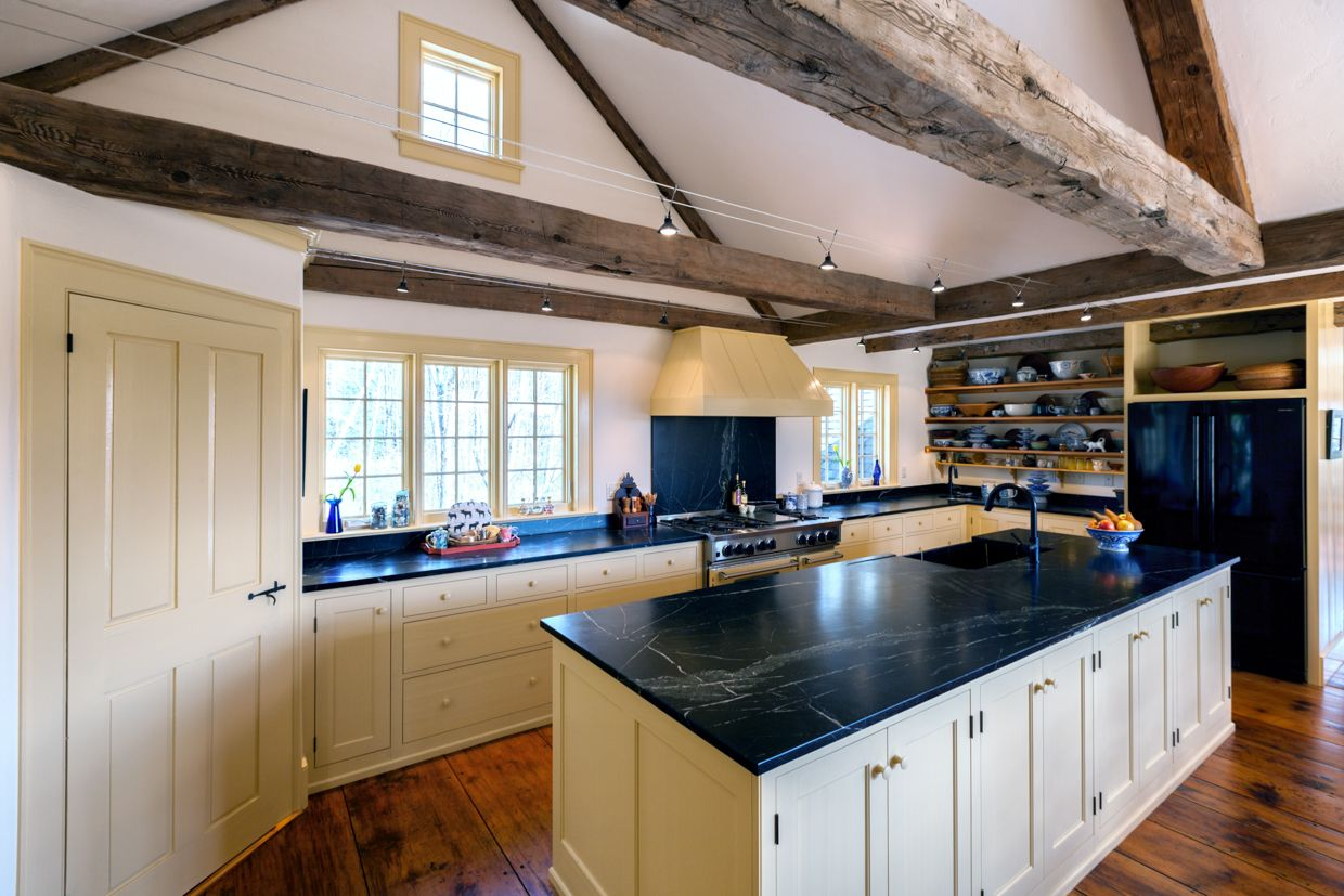 Maine Country Kitchen With Soapstone Countertops