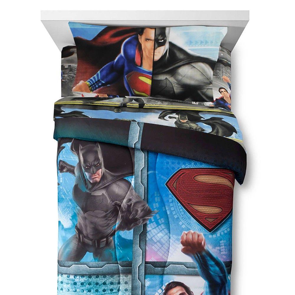 4pc Batman Vs Superman Twin Bedding Set Crime And Punishment