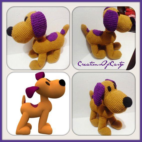 Loula Dog (Pocoyo ) Amigurumi Crochet PDF | Bordados y Tejidos ...