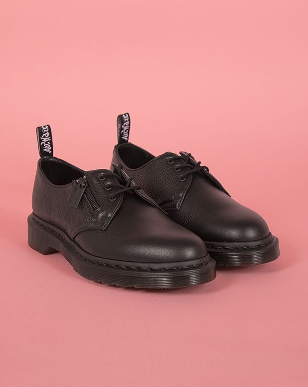Dr. Martens 1461 W/Zip Black Aunt Sally Shoe - Shoes - Categories -