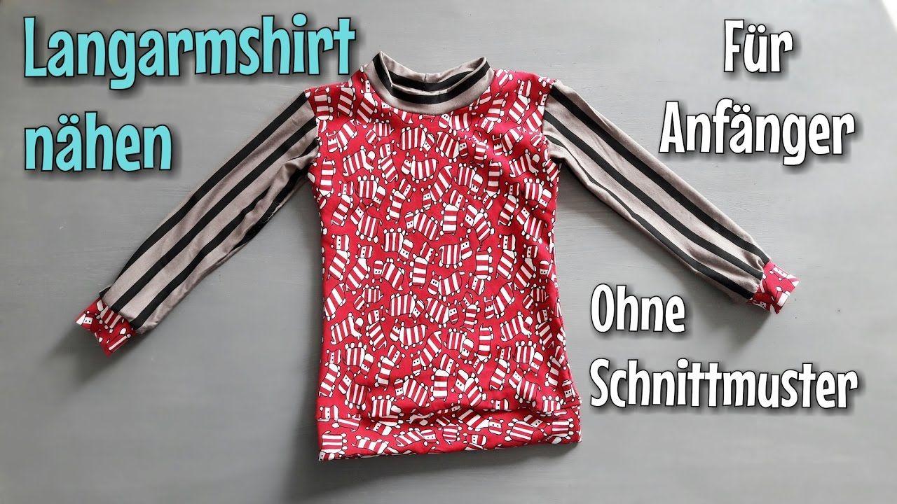 Langarmshirt nähen - Für Anfänger - OHNE Schnittmuster - TINA ...