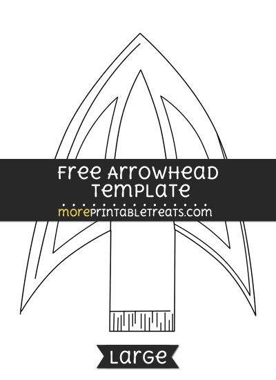 Free Arrowhead Template Large Shapes And Templates