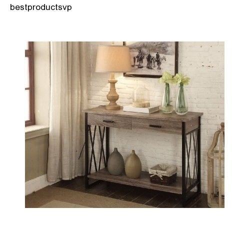 Wood Hallway Table Accent Furniture Console Sofa Antique Entryway Entry Grey
