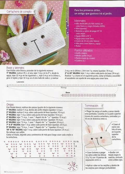 Crochet pouch   시도해 볼 프로젝트   Pinterest   Cartuchera, Bolsa y ...