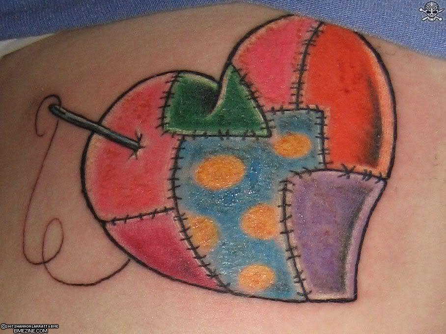 Quilt n Needle Heart   Ink   Pinterest   Patchwork heart, Tattoo ... : quilt square tattoo - Adamdwight.com