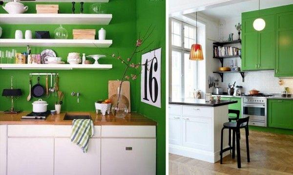 Cocina verde pasto | La magia del color | Pinterest | Cocina verde ...