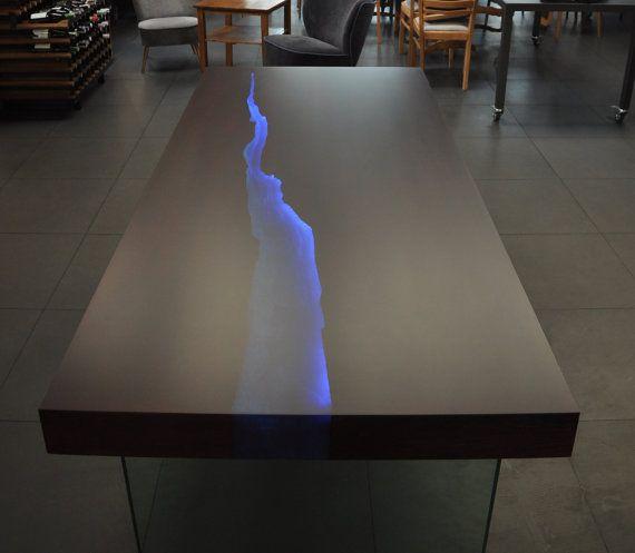 Kasparo Amazing Table With Resin And Led Technology Whoa