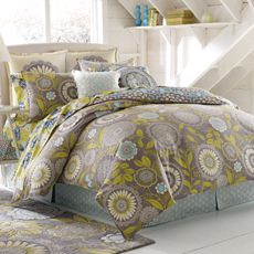 Amy Butler Lace Work 100% Organic Cotton Duvet Cover. Bed Bath & Beyond.  This is my favorite print!!