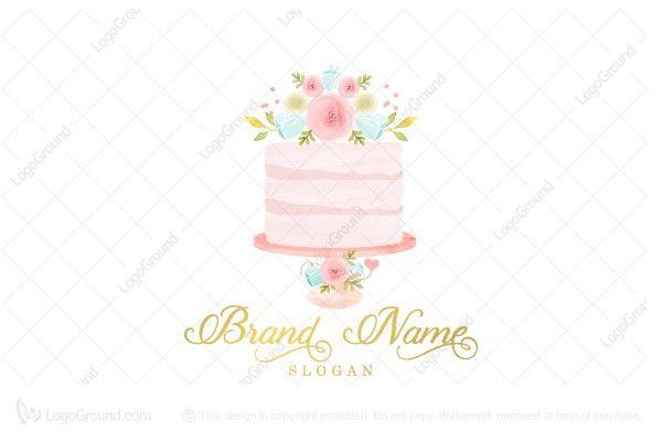 pastel cake logo design Watercolor Pastel Cake Logo  Cake logo, Pastel cakes, Gem logo
