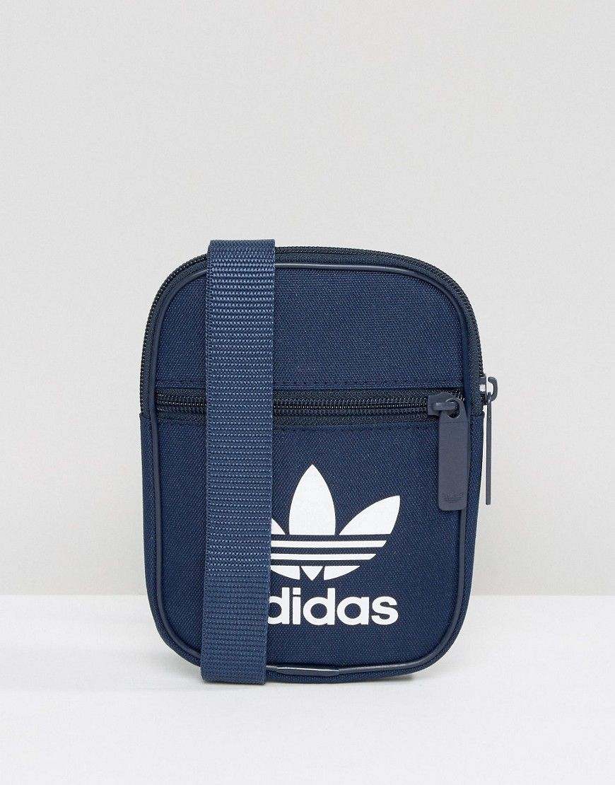 ADIDAS ORIGINALS TREFOIL FLIGHT BAG IN COLLEGIATE NAVY BK6731 - NAVY.   adidasoriginals   2bf36a80869ea