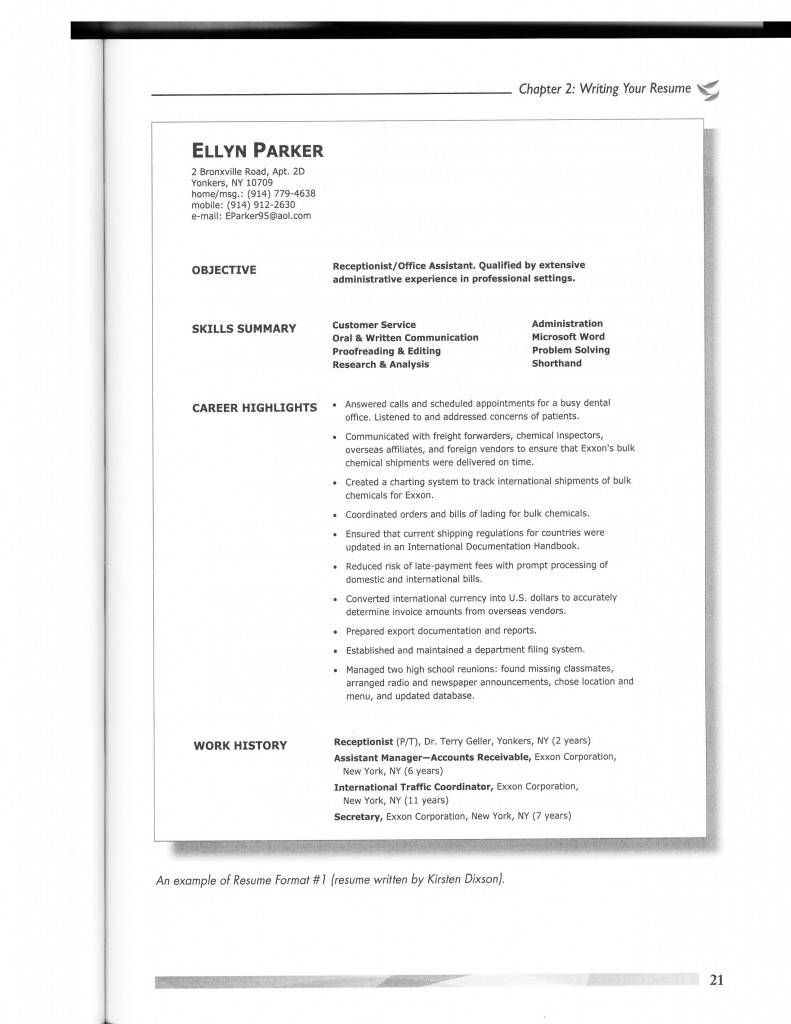 Resume Styles Examples Resume Samples Pinterest Resume styles