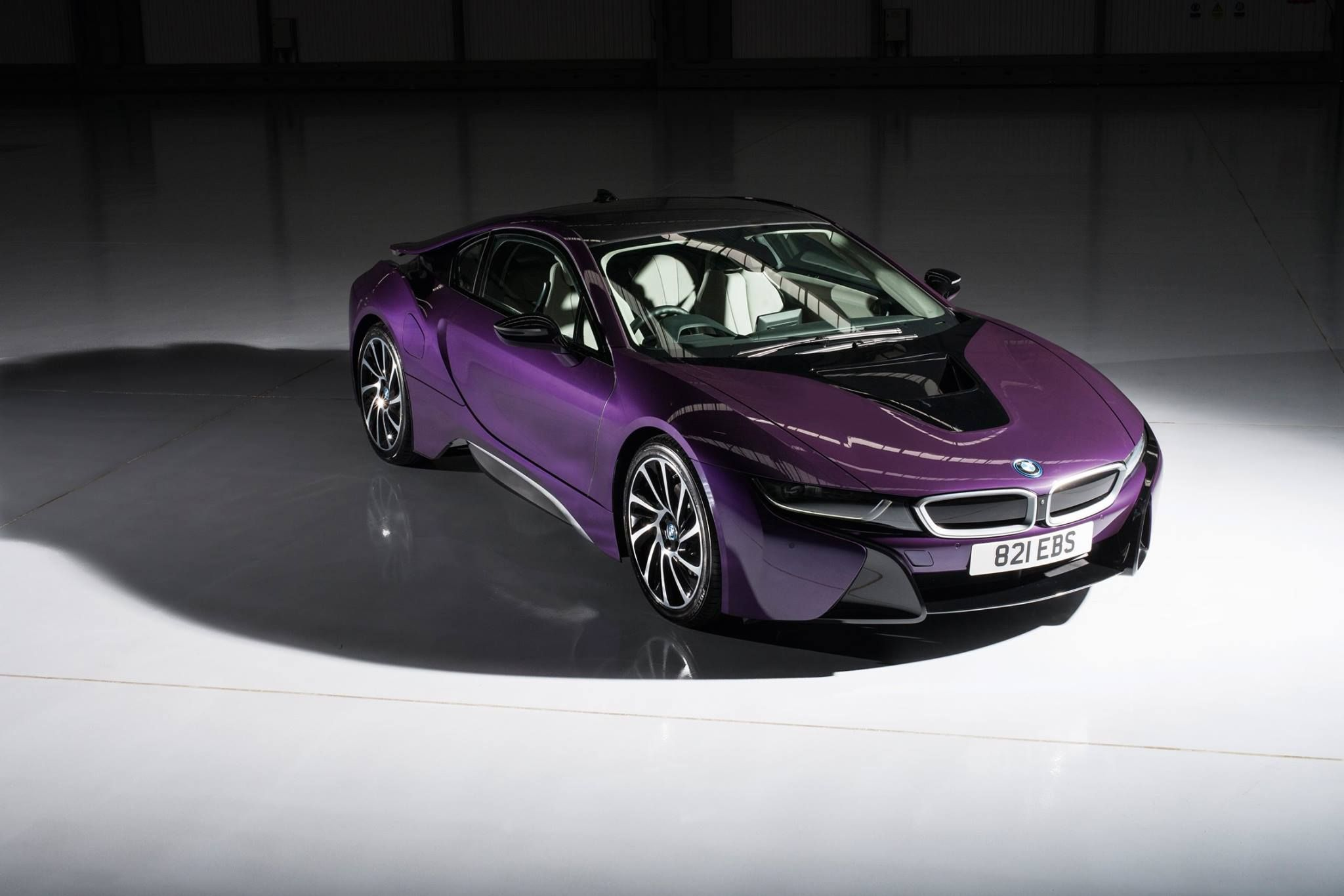 Bmw I8 Coupe Edrive Purple Rainbow Electric Burn Blue