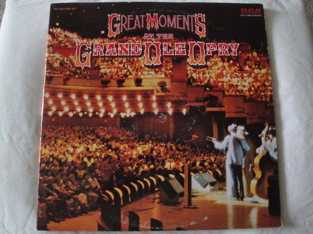 GREAT MOMENTS AT THE GRAND OLE OPRY ORIGINAL 1976 RCA VICTOR CPL2-1904, STEREO #CountryPopEarlyCountryNashvilleSoundTraditionalCountry