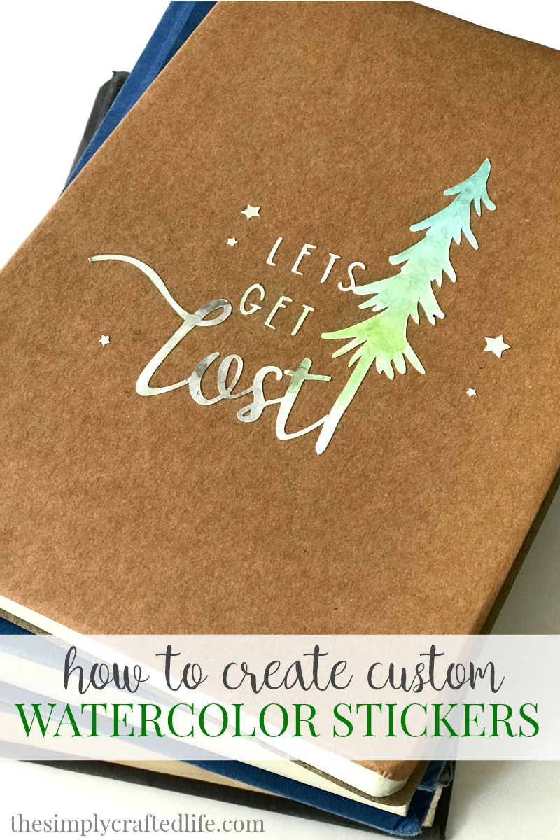 This tutorial will show you how to create diy watercolor stickers using cricut printable vinyl and a simple watercolor palette