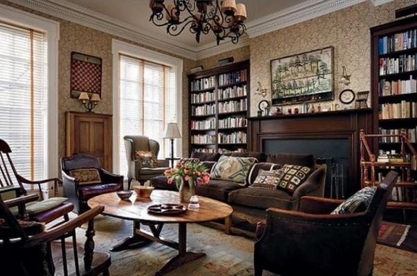 La libreria personale di Woody Allen nel suo appartamento a Manhattan