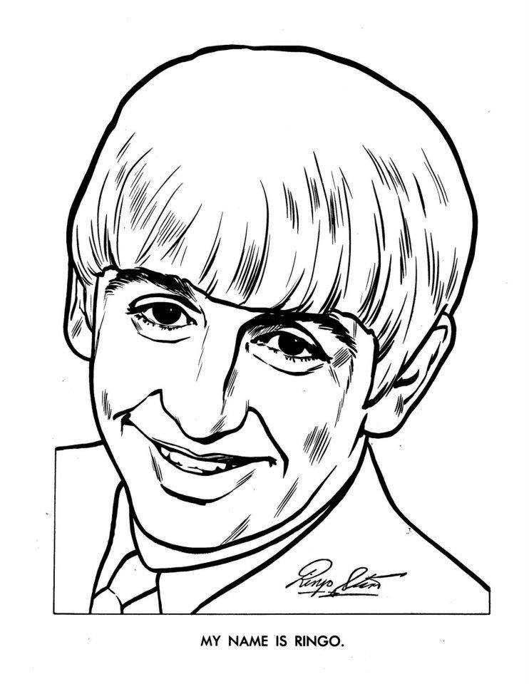 The Beatles Coloring Page 08 | Beatles | Pinterest | Famosos