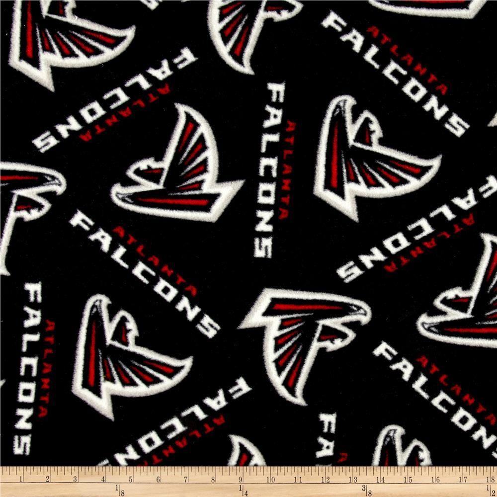 Nfl fleece atlanta falcons blackred blanket