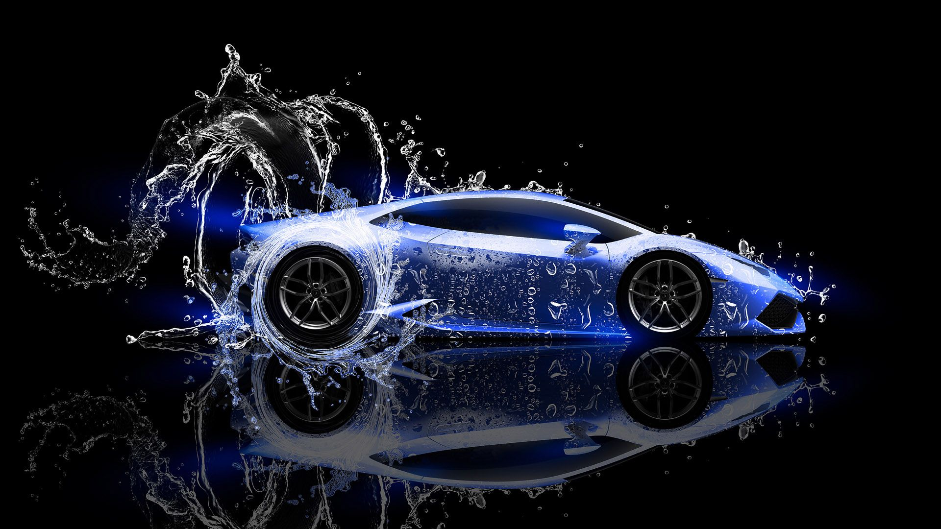 Lamborghini Huracan LP 610 4 Water Effect HD Wallpaper