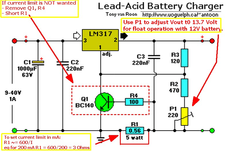 Pin On Charger Battery 12v Circuit