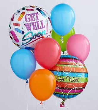Get Well Get Well Balloons Get Well Flowers Balloon Bouquet