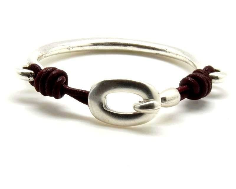 Clasp - Half Bracelet With Or Without Hook Clasp As Shown, Silver