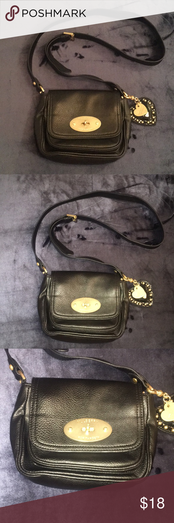 Mulberry for Target Crossbody Purse Black Mulberry for Target Crossbody Bag  Purse Excellent condition Black faux 86507802f2