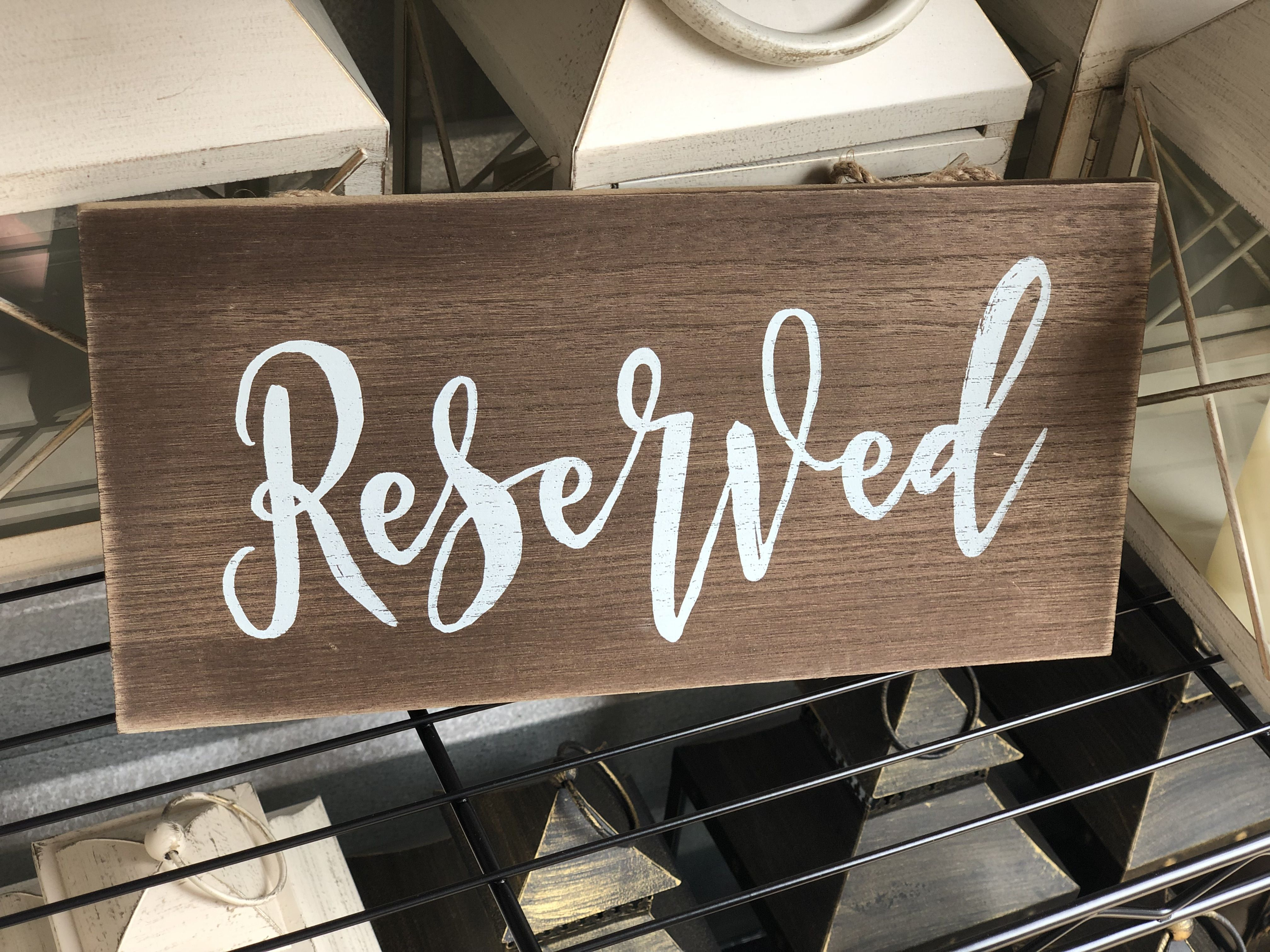 29+ Reserved sign wedding template info