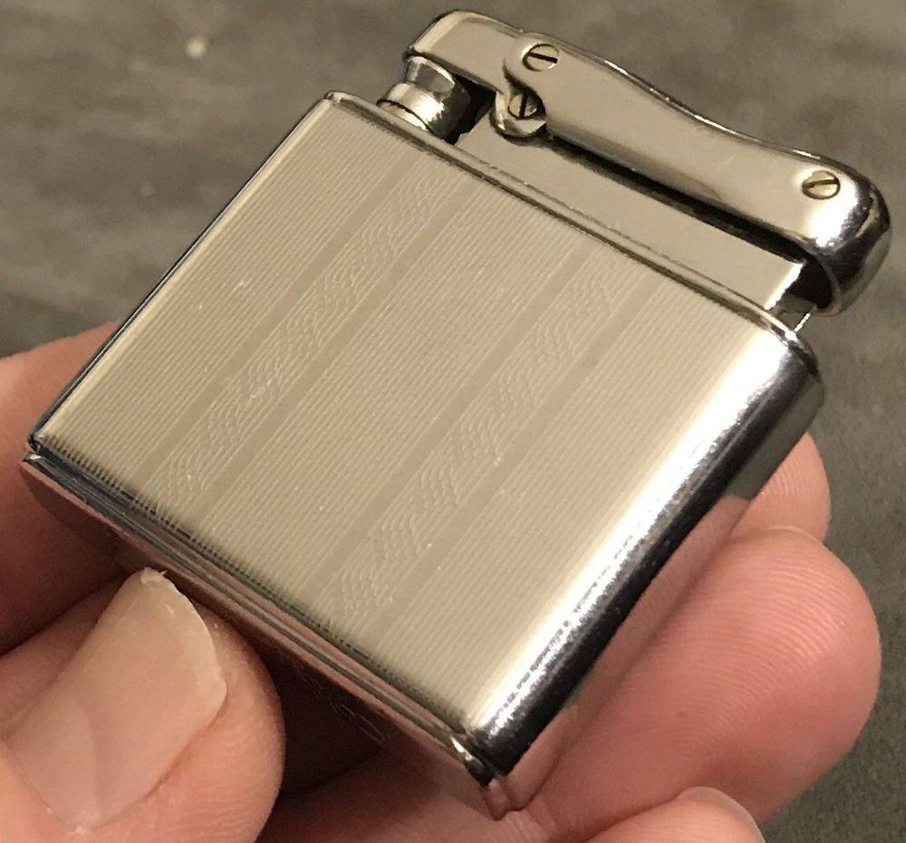 Vintage Colibri By Kreisler Automatic Slip Case Petrol Lighter Ribbon Design Colibri Lighter Diamond Design Petrol