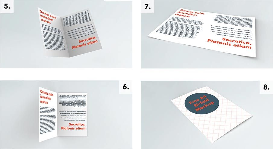 Free A Brochure Mockup  Useful Designers Collection