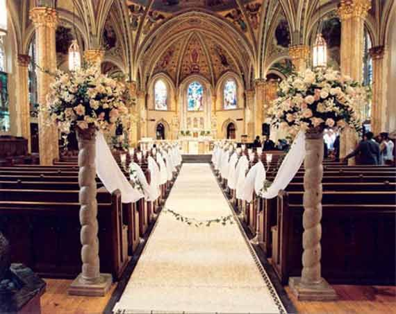 Wedding Design Ideas top 4 stunning outdoor wedding decoration ideas Decorating Pews For Weddings Floral Church Wedding Decoration Ideas 2 Holly Floral Church Wedding