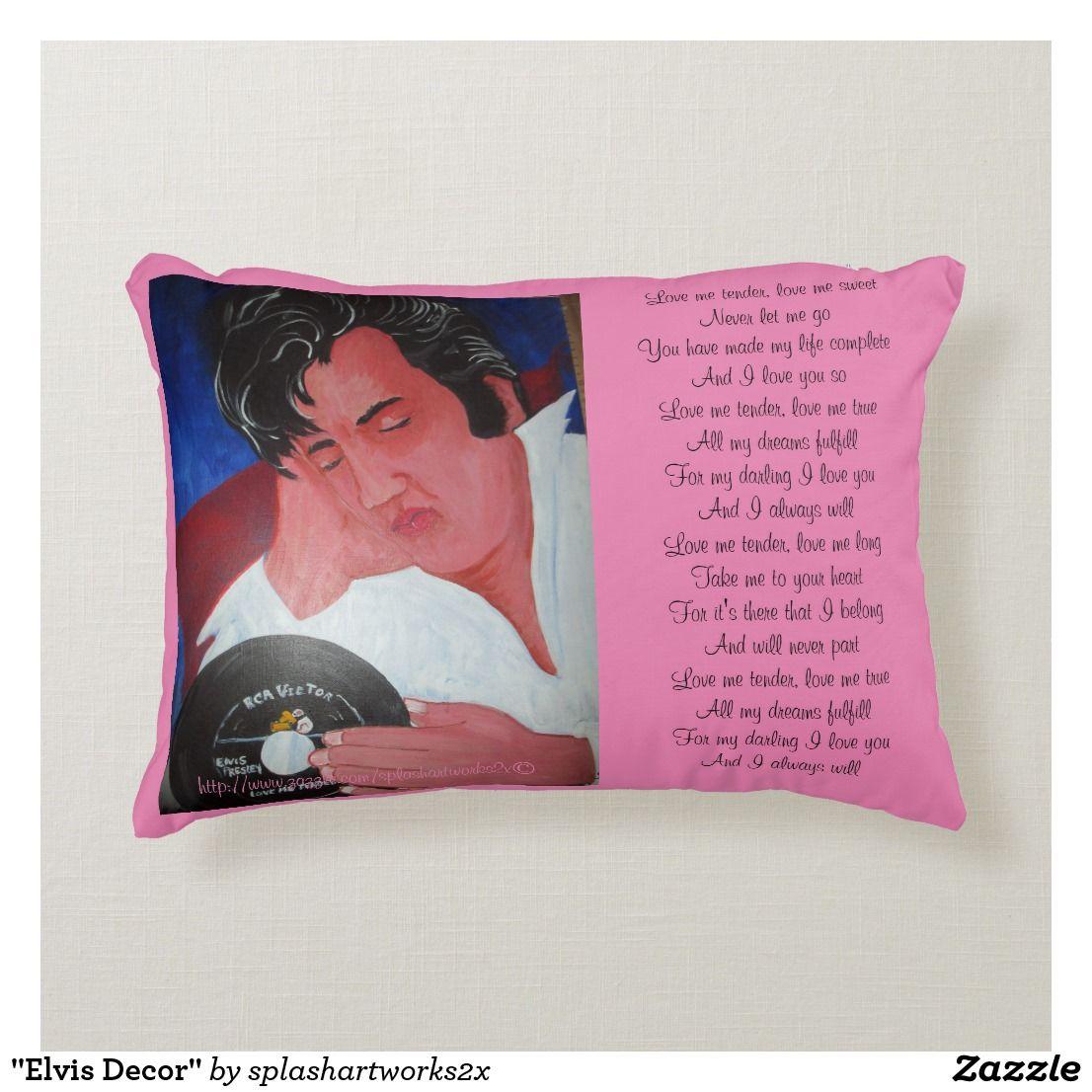 """""""Elvis Decor"""" Accent Pillow Custom throw pillow, Pillows"""