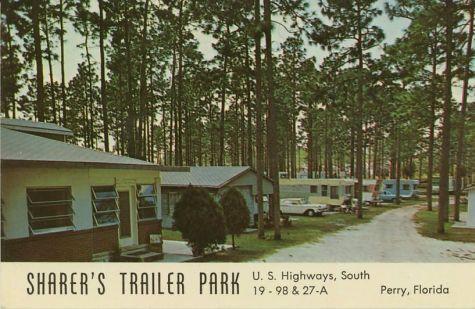 Florida Trailer Park Vintage Scene