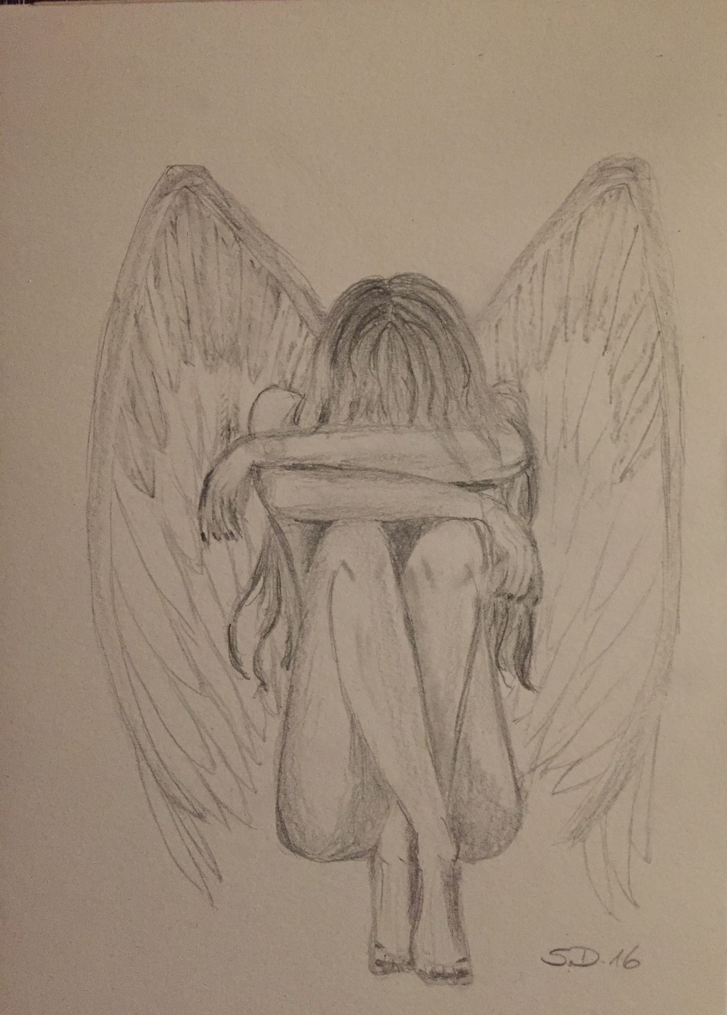 Photo of Angel pencil drawing