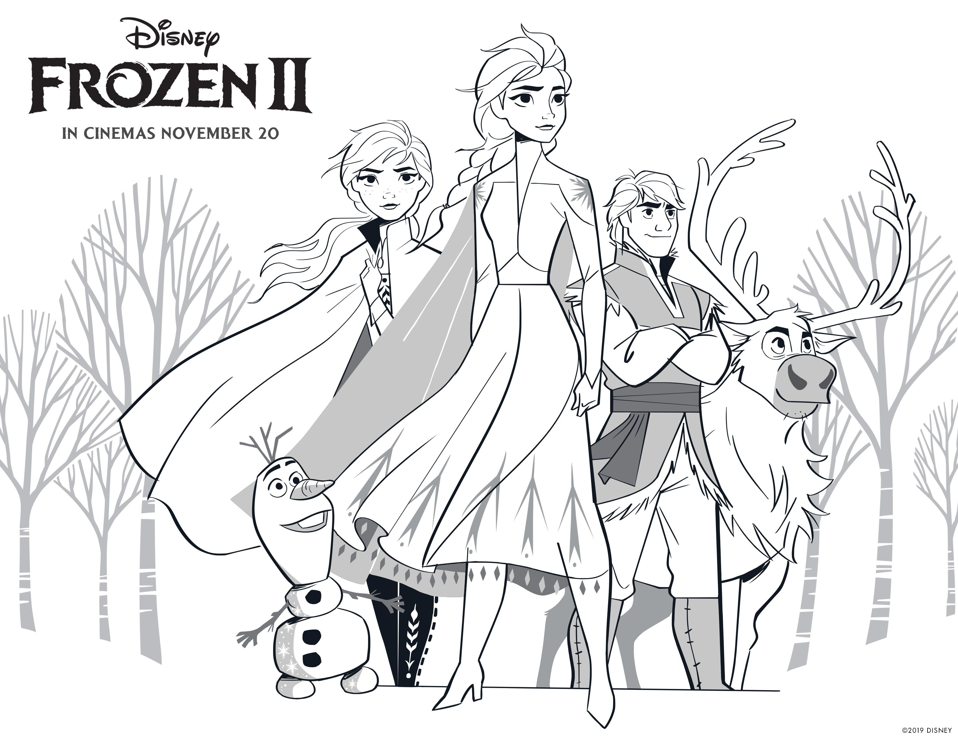 Free Printable Coloring Pages Images With Frozen 2 Movie Charactersnow You Can Paint With All The In 2020 Elsa Coloring Pages Disney Coloring Pages Frozen Coloring