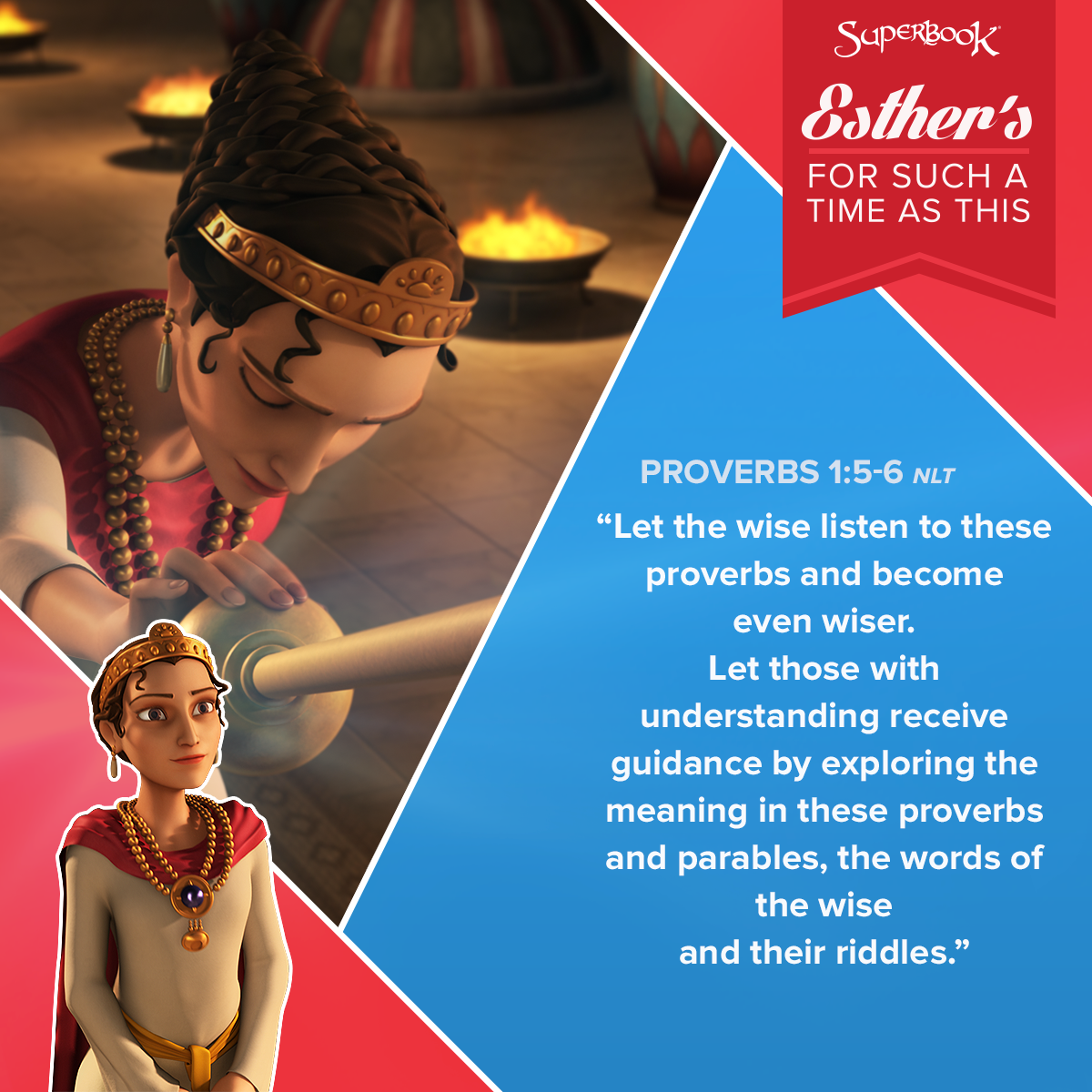 Wisdom Of Esther by Superbook Proverbs, Wise quotes