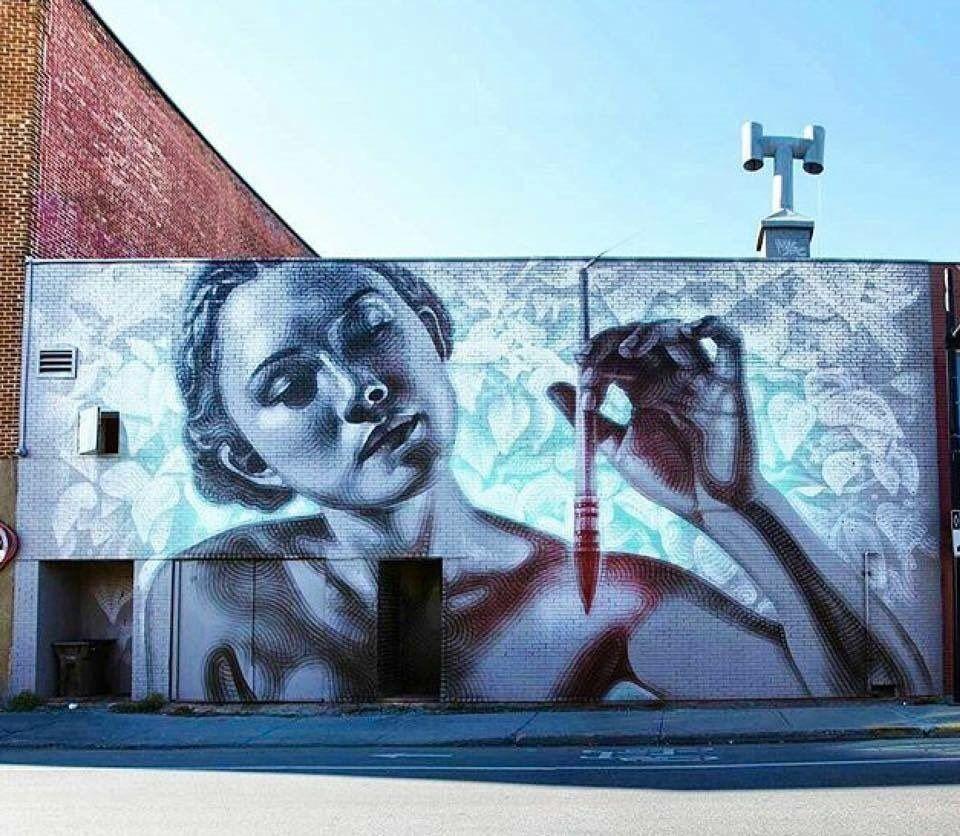 New Street Art by El Mac in Montreal, Canada #art #mural #graffiti #streetart