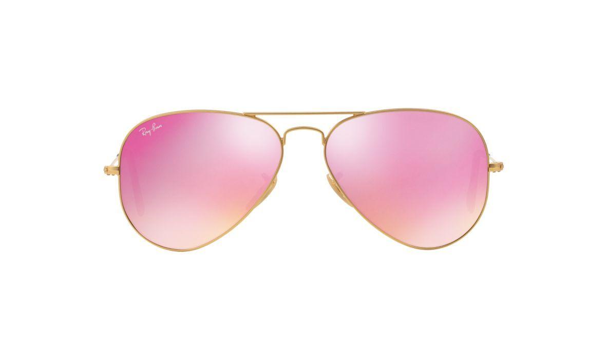 07a4d96c61 Ray-Ban RB3025 58 ORIGINAL AVI 58 Pink   Gold Matte Sunglasses ...