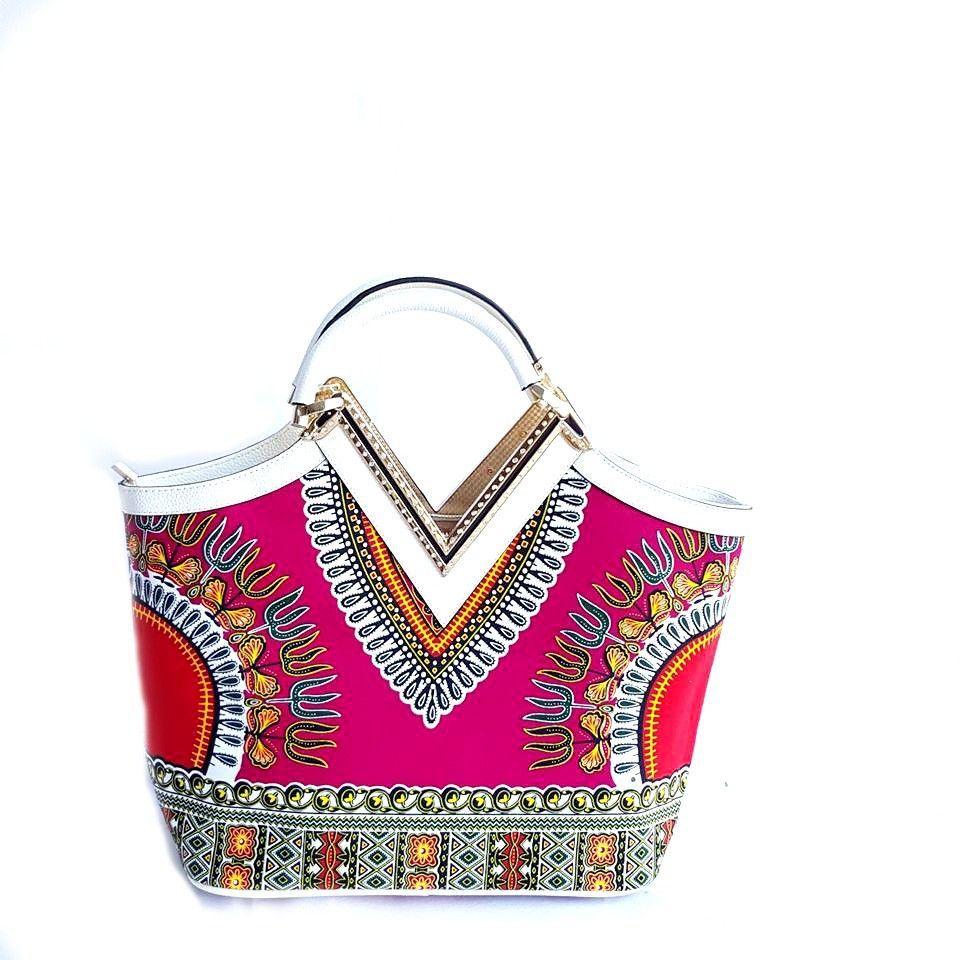 Dashiki African print Elegant Modern Fashion Handbag - Zabba Designs African Clothing Store  - 3