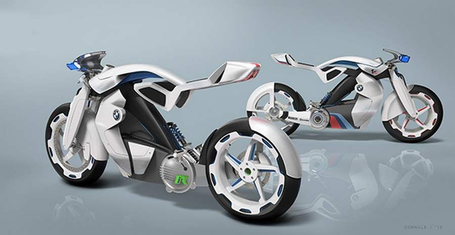 Electric Bmw Ir Motorcycle Concept Concept Motorcycles
