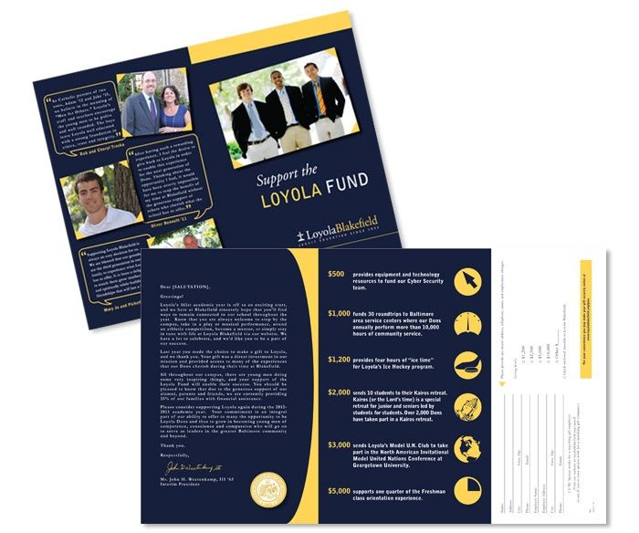 Fundraising/ capital campaign collateral design sample Fundraising
