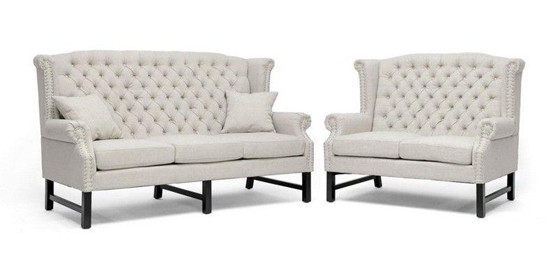 Best Wholesale Interiors Baxton Studio Sussex Beige Linen 400 x 300